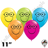 Qualatex 11 Inch Round Smile Nerd Assortment Balloons 50ct
