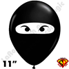 Qualatex 11 Inch Round Ninja Balloons 50ct