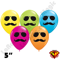Qualatex 5 Inch Round Smile Mr Cool Assortment Balloons