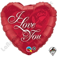 18 Inch Heart I Love You Red Foil Balloon
