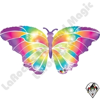 Qualatex 44 Inch Shape  Luminous Butterfly Foil Balloon 1ct