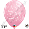Qualatex 11 Inch Round It's A Girl-A-Round Balloons 50ct