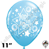Qualatex 11 Inch Round Yep Im A Boy Pale Blue Balloons 50ct