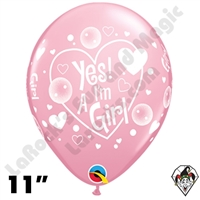 Qualatex 11 Inch Round Big Polka Dots Pink Balloons