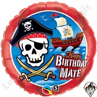 Qualatex 18 Inch Birthday Mate Pirate Ship Foil Balloon 1ct