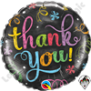 Qualatex 18 Inch Round Thank You Chalkboard Foil Balloon