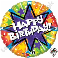 18 Inch Birthday Radiant Blast Foil Balloon