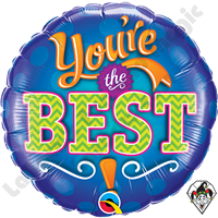 18 Inch Round You're The Best Emblem Foil Balloon Qualatex 1ct.
