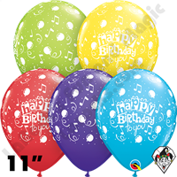 Qualatex 11 Inch Round Happy Birthday To You Balloons 50ct
