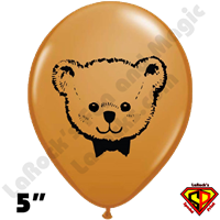 Qualatex 5 Inch Round Teddy Bear Balloons 100ct