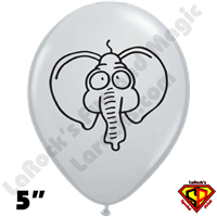 Qualatex 5 Inch Round Elephant Balloons 100ct