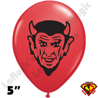 Qualatex 5 Inch Round Devil Head Balloons 100ct