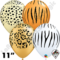 Qualatex | Imprinted Balloons | 11 Inch Round Safari Assortment