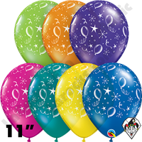 11 Inch Round Assortment Party Balloons-A-Round Fantasy Balloon Qualatex 50ct
