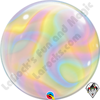 22 Inch Iridescent Swirls Bubble Qualatex 1ct
