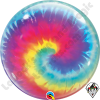 22 Inch Tye Dye Swirls Bubble Qualatex 1ct