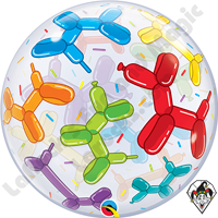 22 Inch Balloon Dogs Bubble Qualatex 1ct