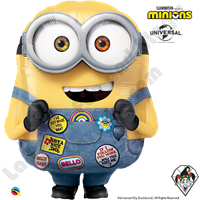 33 Inch Shape Minions Shape Foil Balloon Qualatex 1ct.
