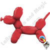 14 Inch Shape Balloon Dog Red Foil Balloon Qualatex 1ct