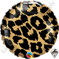 18 Inch Round Leopard Spots Pattern Foil Balloon Qualatex 1ct.