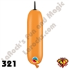 Qualatex 321Q Bee Body Standard Orange With Black Tip Balloons 100ct