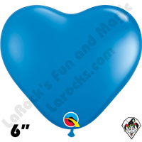 Qualatex 6 Inch Heart Standard Dark Blue Balloons 100ct
