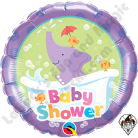 Qualatex 18 Inch Round Baby Shower Elephant Foil Balloon