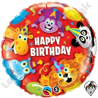 18 Inch Birthday Party Animals Foil Balloon