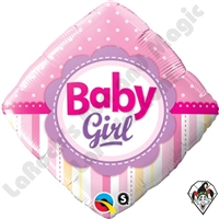 Qualatex 18 Inch Diamond Baby Girl Foil Balloon