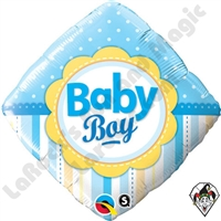 Qualatex 18 Inch Diamond Baby Boy Foil Balloon