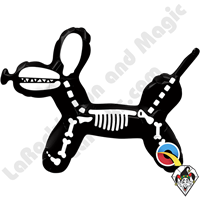 14 Inch Shape Balloon Dog Skeleton Foil Balloon Qualatex 1ct