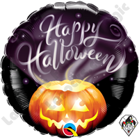 18 Inch Round Halloween Wispy Smoke Foil Balloon Qualatex 1ct.