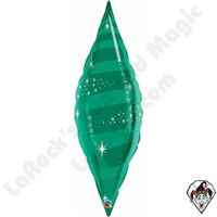 Qualatex 38 Inch Taper Swirl Emerald Green Foil Balloon 1ct