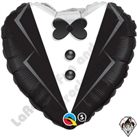 Qualatex 18 Inch Heart Wedding Tuxedo Foil Balloon Qualatex 1ct