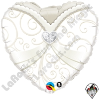 Qualatex 18 Inch Heart Wedding Gown Foil Balloon Qualatex 1ct