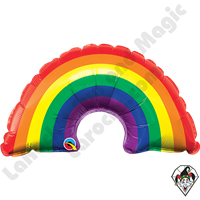 14 Inch Shape Mini Rainbow Foil Balloon Qualatex 1ct