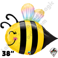 38 Inch Shape Sweet Bee Foil Balloon Qualatex 1ct