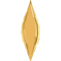 38 Inch Taper Metallic Gold Foil Balloon 1 ct