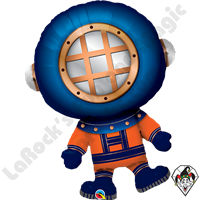 37 Inch Shape Deep Sea Diver Foil Balloon Qualatex 1ct