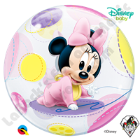 22 Inch Disney Baby Minnie Mouse Bubble Qualatex 1ct