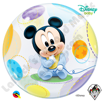 22 Inch Disney Baby Mickey Mouse Bubble Qualatex 1ct