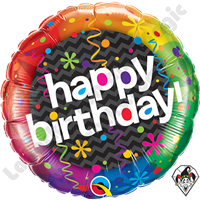 Qualatex 18 Inch Birthday Dazzling Party Foil Balloon 1ct