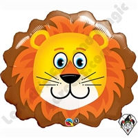 Qualatex 32 Inch Shape Lovable Lion Foil Balloon 1ct