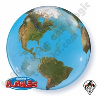 22 Inch Planet Earth Bubble Balloon Qualatex 1ct