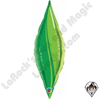 Qualatex 13 Inch Taper Green Leaf Foil Balloon 1ct