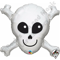 32 Inch Shape Happy Skull Foil Balloon Qualatex 1ct