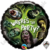 18 Inch Round Zombie Party Foil Balloon 1ct