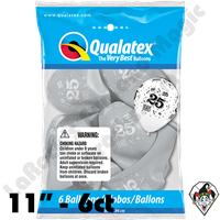 Qualatex Party Pack 11 Inch Round 25-A-Round Silver 6ct