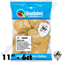 Qualatex Party Pack 11 Inch Round 50-A-Round Gold 6ct