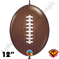 12 Inch Quick Link Football Chocolate Brown Qualatex 50ct